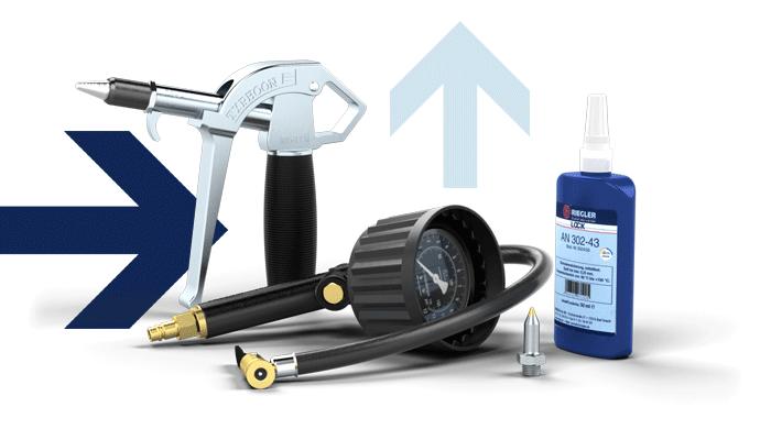 Blow gun, Handheld tyre gauge, Industrial adhesives