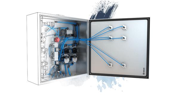 Pneumatic control cabinet