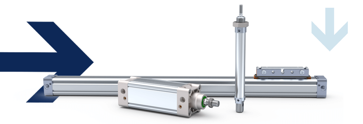 Round cylinders, rodless drives