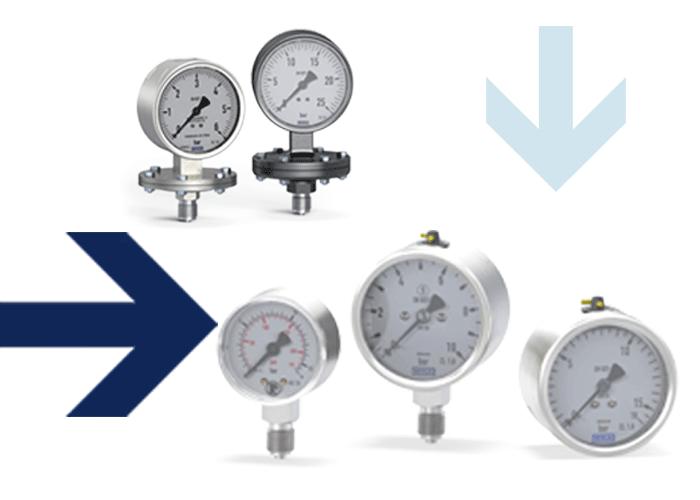 Diaphragm pressure gauge, standard pressure gauges, stainless steel pressure gauges, Thermometers