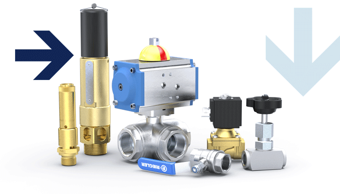 Ball valves, safety valves, solenoid valves